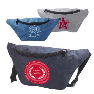 Custom Printed Travel Fanny Pack w/ Zippered Compartment & Buckle Closure