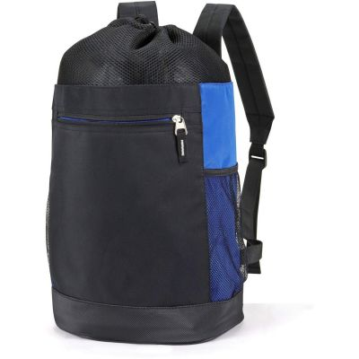 Tri-Mesh Microfiber Wholesale Backpacks w/ Drawstring Closure - HP2216