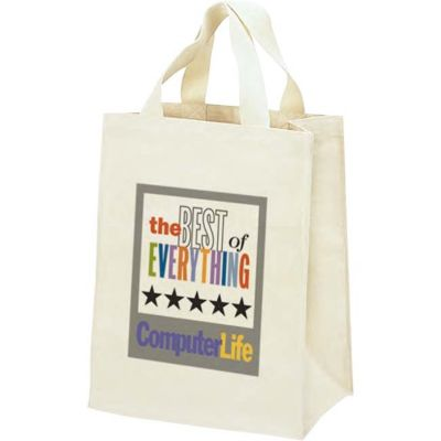 Heavy Duty Canvas Tote Bag with Hook and Loop Closure