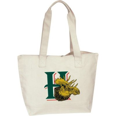 Canvas Zippered Tote Bag