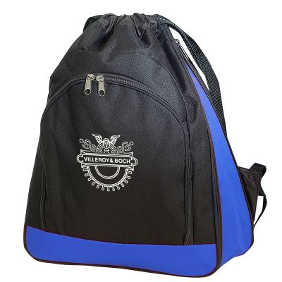 Expandable Poly Drawstring Backpack
