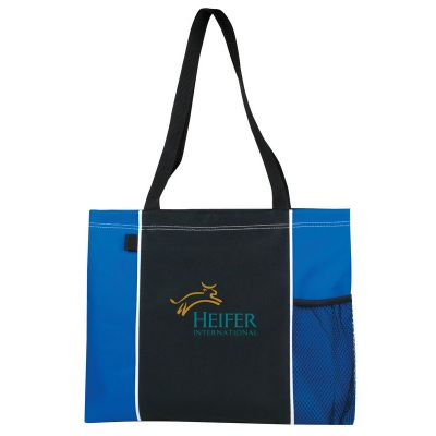 Deluxe Poly Tote Bag with Mesh Pocket