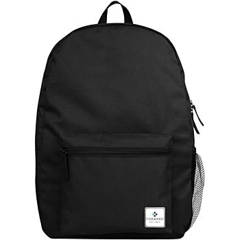 "17"" Forward Classic School Backpack with Side Mesh Pocket - Black (24 Pack)"