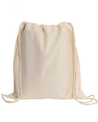 Cotton Canvas Wholesale Drawstring Bags Backpacks - Small