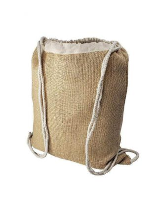Wholesale Burlap Drawstring Bags - Jute Backpacks in Bulk
