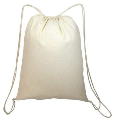 Cotton Canvas Wholesale Drawstring Bags Backpacks - Large