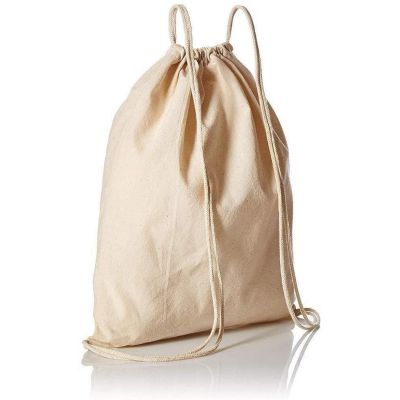 Organic Cotton Canvas Drawstring Bags in Bulk - OR18