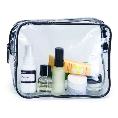Clear Vinyl Travel Size Cosmetic Bags