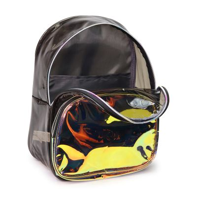 Transparent Black / Iridescent Gold Clear Backpacks - HP2099
