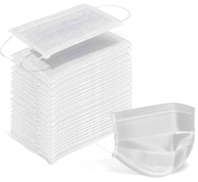 60 Pack White Disposable 3PLY Face Masks
