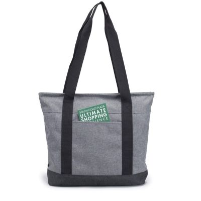 Tote Bag with Zipper - Heathered Polyester Zipper Tote - HP1109