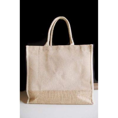 Large Jute Burlap Tote Bags in Bulk with Full Gusset