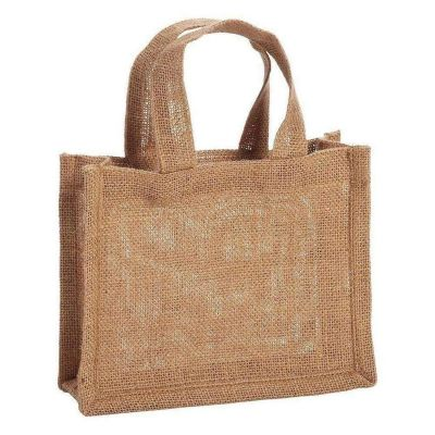 Party Favor mini Gift Tote Bags 100% Jute Burlap Bags - B767