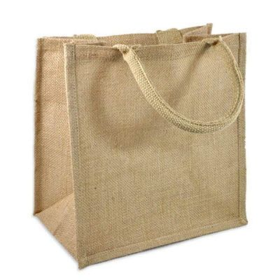Wholesale Jute Burlap Gift Tote Bags - Medium