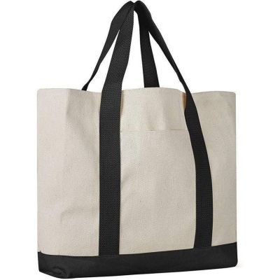 Heavy Cotton Canvas Large Tote Bags Wholesale w/ Front Pocket