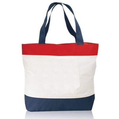 Durable Polyester Beach Tote Bags with Zipper Top - Q2100
