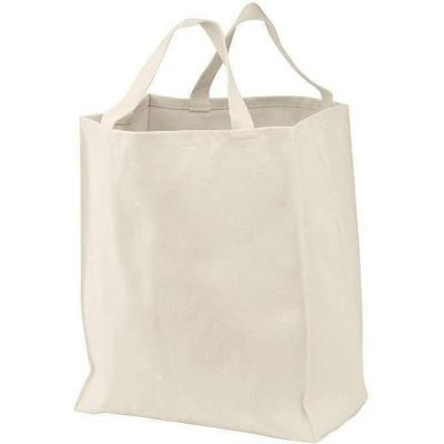 Heavy Cotton Twill Reusable Grocery Canvas Tote Bags