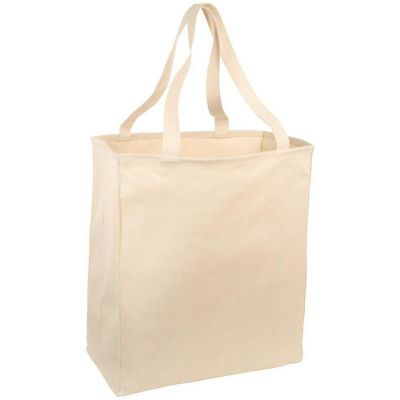 Heavy Cotton Twill Over-the-Shoulder Reusable Grocery Canvas Tote Bags