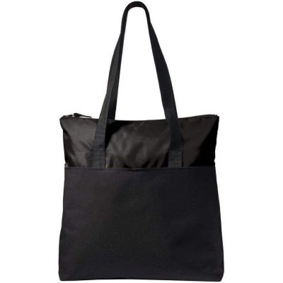 Poly Canvas Tote Bag with Zipper | Convention Tote Bags Wholesale - BG407