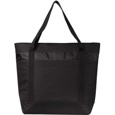 Polyester Canvas Large Cooler Tote Bag with Zip Top Closure - BG527
