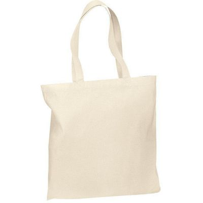 High Quality Budget Reusable Cotton Tote Bag with Color Handles - B150