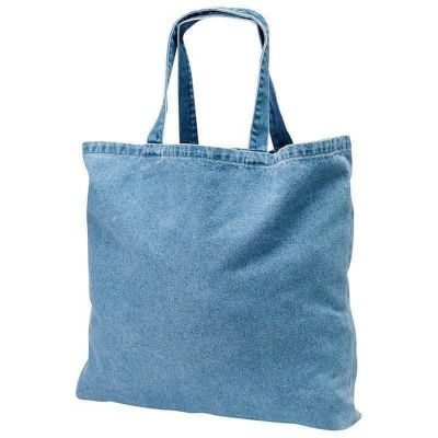 Heavy Duty Cotton Washed Denim Event Tote Bags Wholesale