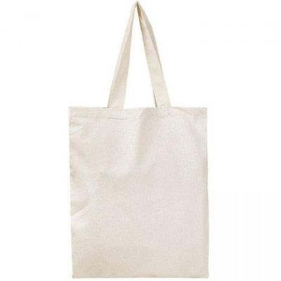 100% Cotton Plain Canvas Tote Bags for Crafts, DIY - Set of 12