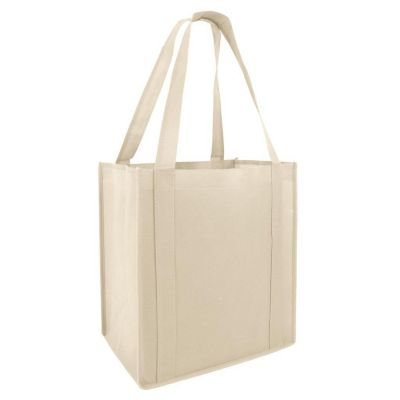 Non-Woven Reusable Stand Up Shopping Tote Bags - Set of 50