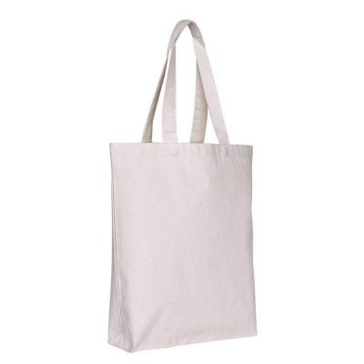 Canvas Tote Bags Bulk Blank Canvas Bags w/ Bottom Gusset - Set of 12