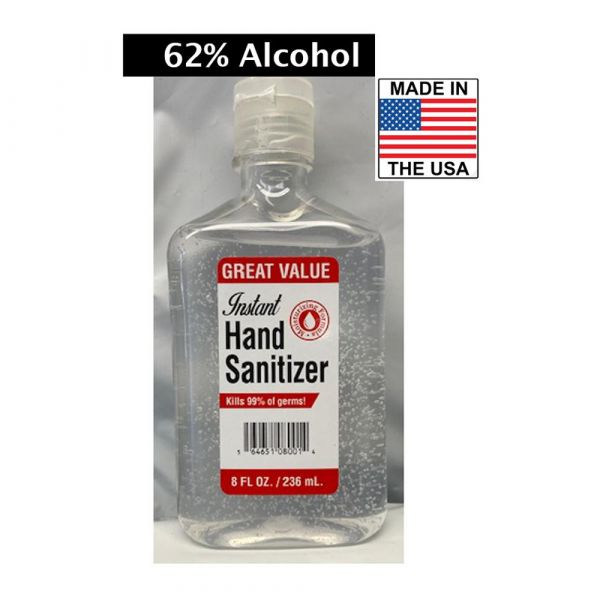 8oz. Alcohol PPE & Face Masks/Hand Sanitizers (Made in USA)