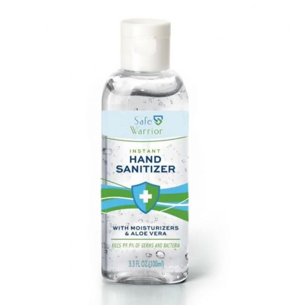 75% Alcohol Instant Hand Sanitizer with Moisturizers and Aloe Vera, 100 Bottles/Case