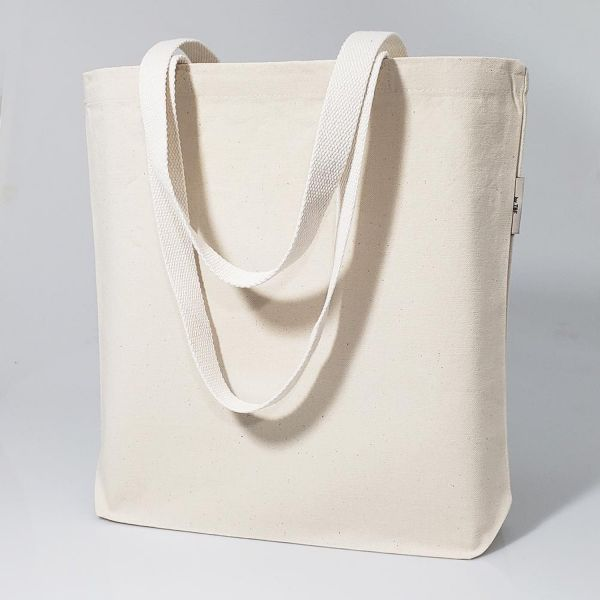 Organic Cotton Bags - Heavy Canvas Tote Bags w/ Bottom Gusset | OR210