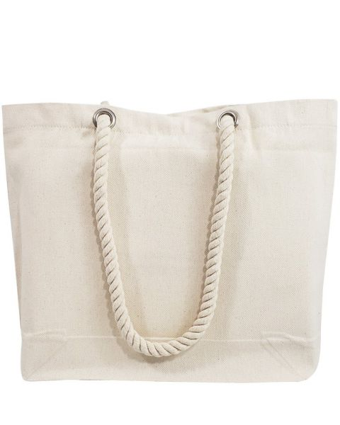Large Canvas Beach Tote Bags with Rope Handles