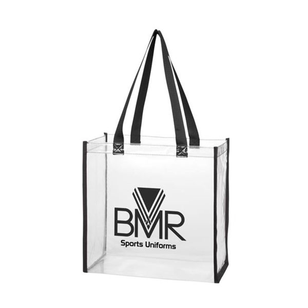 Printed Clear Tote Bags Wholesale (100pcs)