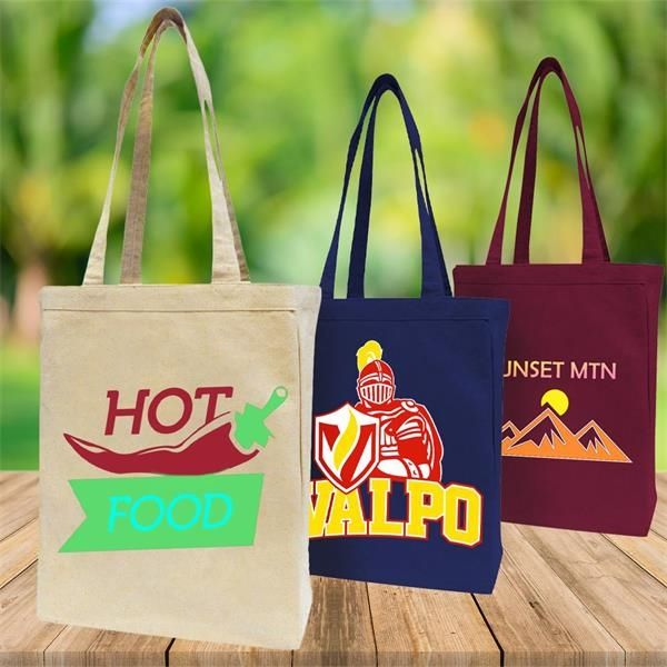 Custom Printed Canvas Convention Tote Bags (100pcs)
