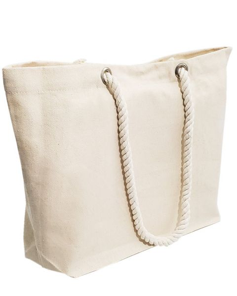 Extra Large Canvas Beach Tote Bags with Rope Handles