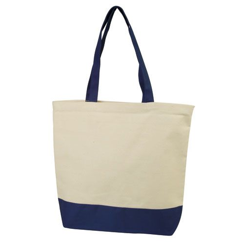 Two Tone Cotton Canvas Tote Bags