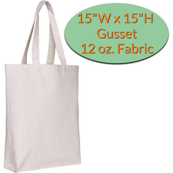 Wholesale Heavy Duty Canvas Bags with Bottom Gusset