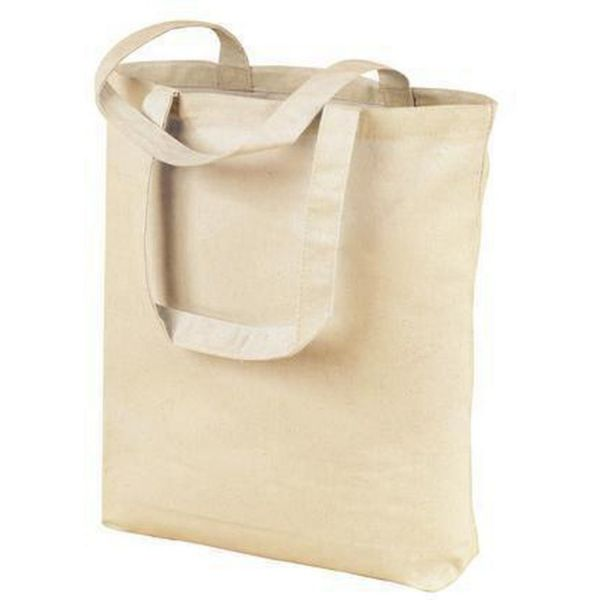 Organic Cotton Canvas Tote Bags Wholesale with Gusset
