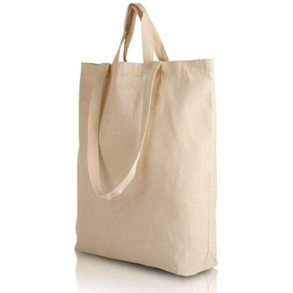 Canvas Tote Bags with Short and Long Handles / Bottom Gusset - BTG220