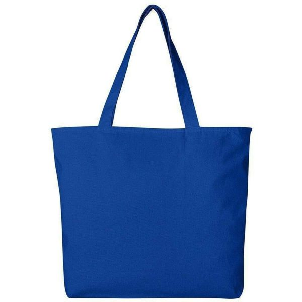 Wholesale Large Canvas Tote Bags with Zipper Closure