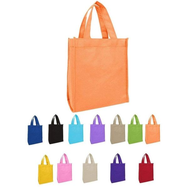 Small Tote Bags in Bulk - Non-Woven Gusseted Gift Bags Wholesale - GN18