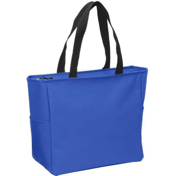 Polyester Canvas Tote Bags with Zipper - Zip Top Tote Bags - BG410