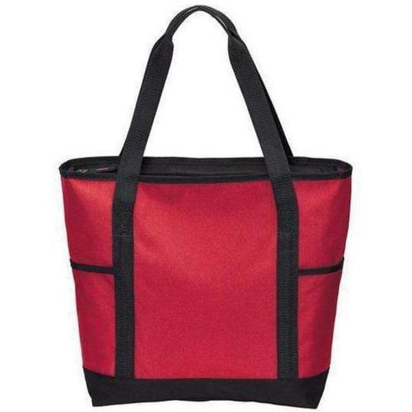 Polyester Canvas On-The-Go Tote Bag with Zippered Top - BG411