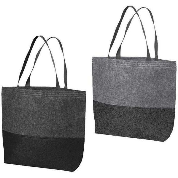 Polyester Felt Easy-to-Decorate Tote Bag Large Size - BG402L