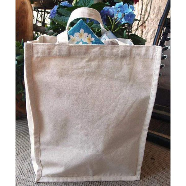 Wholesale Wide Gusseted Canvas Deluxe Tote Bag - TM866