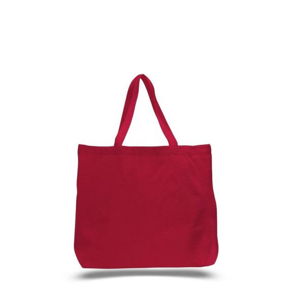 Large Canvas Tote Bags Wholesale - 12 Pack