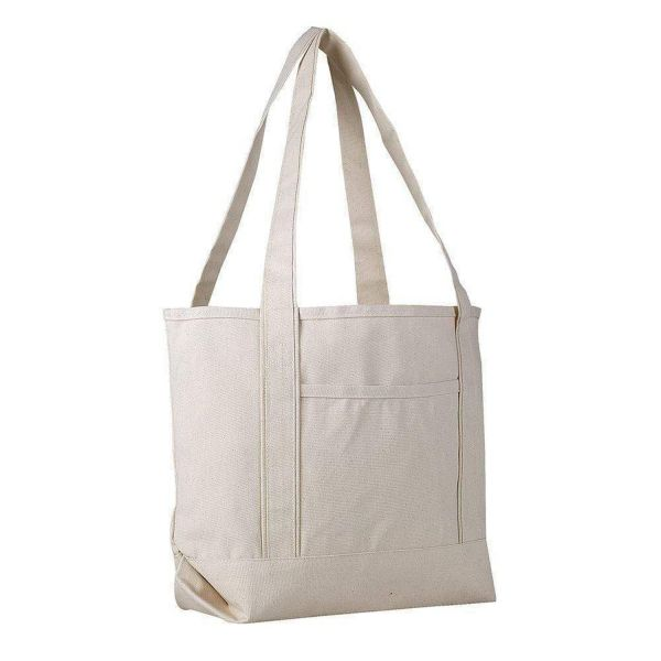 Heavy Duty Canvas Tote Bags - 12 Pack - Medium Boat Canvas Bags