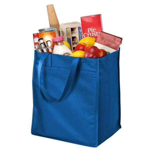 Wholesale Extra-Wide Polypropylene Grocery Promo Tote Bag - B160