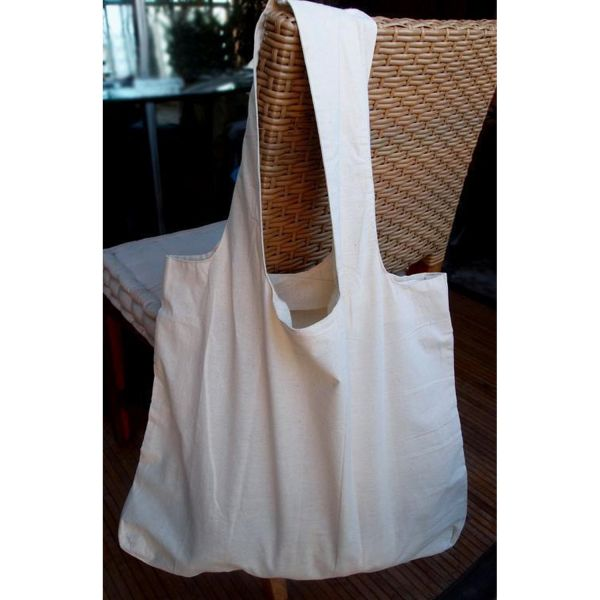 12 Pack Natural Cotton Tote Bags - Shopping Bag Large - B789